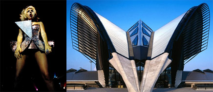 More than just a pokerface lady gaga as architectural for Outer space architecture design