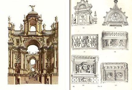 23 - Italian Baroque architecture detail by Andrea Pozzo and Italian    Italian Baroque Architecture
